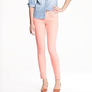 J. CREW SALMON COLOR TOOTHPICK ANKLE JEANS SIZE 30